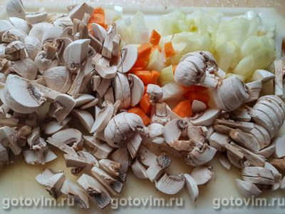 Грибной суп-пюре из шампиньонов с сыром, Шаг 02