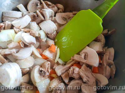 Грибной суп-пюре из шампиньонов с сыром, Шаг 03