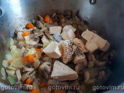 Грибной суп-пюре из шампиньонов с сыром, Шаг 04