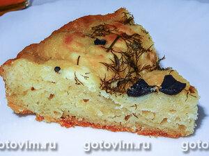 Сырная лепешка с маслинами в мультиварке