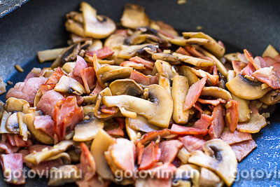 Картофельная запеканка с ветчиной, грибами и сыром, Шаг 01