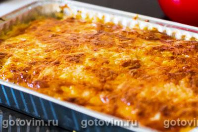 Картофельная запеканка с ветчиной, грибами и сыром, Шаг 09