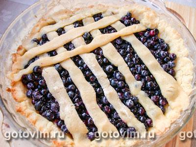 Тесто для пирогов с черникой