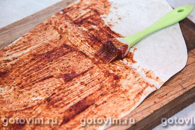 Чипсы из лаваша с кетчупом и сыром, Шаг 03