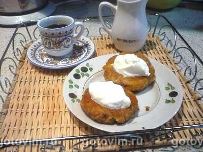 Чвиштари (лепешки из мамалыги и сыра). Фотография рецепта