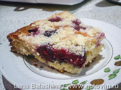 Чешский ягодный пирог (Колач) . Фотография рецепта
