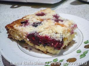 Чешский ягодный пирог (Колач)