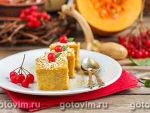 Десерт из тыквы (тыквенное суфле со сливками)