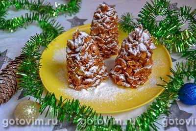 Десерт «Еловые шишки» из хлопьев (без выпечки)