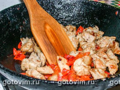 Картофельные блины с мясной начинкой, Шаг 04