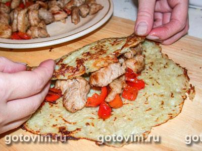Картофельные блины с мясной начинкой, Шаг 05
