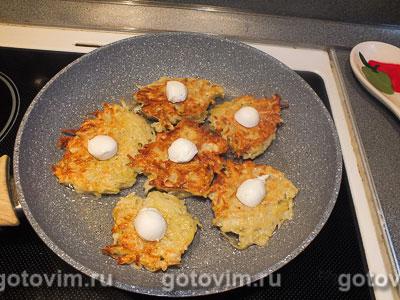 Драники с сыром моцарелла, Шаг 04
