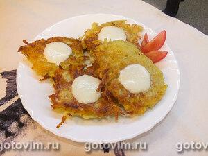 Драники с сыром моцарелла