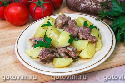 Душенина из баранины (тушеное мясо с картошкой). Фотография рецепта
