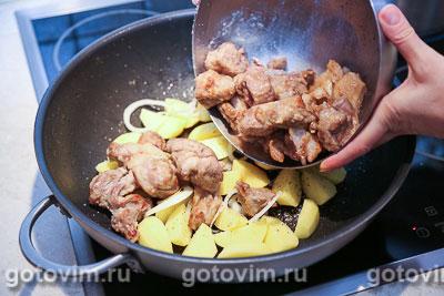 Душенина из баранины (тушеное мясо с картошкой), Шаг 05