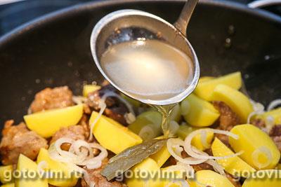 Душенина из баранины (тушеное мясо с картошкой), Шаг 06