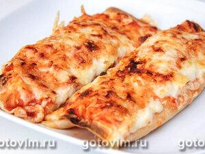 Энчилада с курицей и соусом сальса