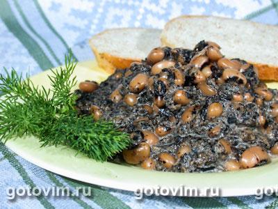 Фасоль с грибами. Фотография рецепта