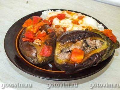 Фатта макдус - фаршированные баклажаны с мясом по-арабски