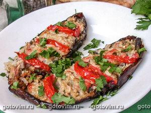 Баклажаны фаршированные мясом и овощами