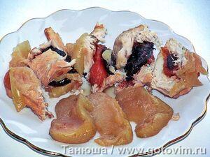 Фруктовая курица (куриные грудки с сухофруктами и яблоками)