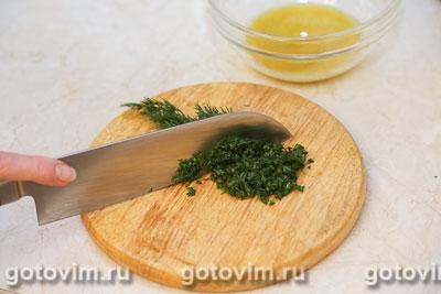Форель в духовке с зеленым соусом, Шаг 04