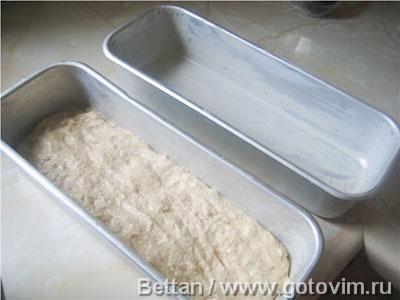 Формовой хлеб из пшеничной муки и овсяных хлопьев, Шаг 04