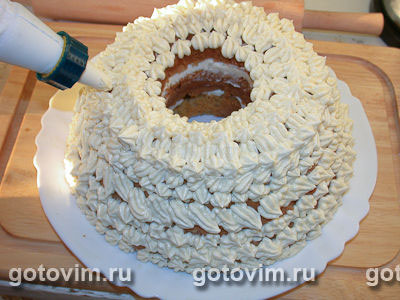 Украшения торта из шприца с фото