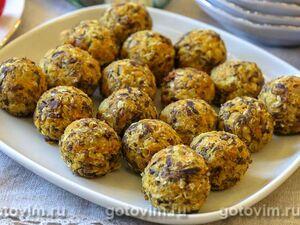 Овощные фрикадельки из нута с грибами