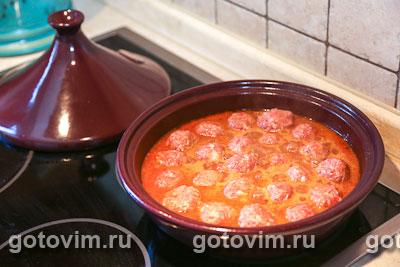 Фотографии рецепта Фрикадельки по-мароккански в тажине, Шаг 06