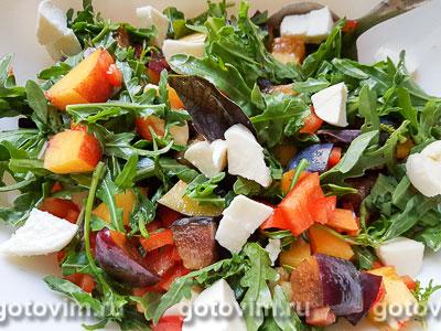 Фотография рецепта Фруктово-овощной салат с сыром