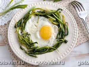 Яичница с черемшой (грузинская кухня)