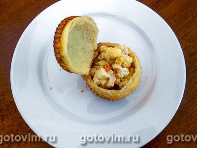 Поповеры с салатом из крабовых палочек, Шаг 07
