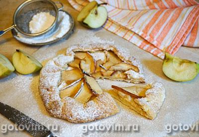 Фотография рецепта Галета с яблоками