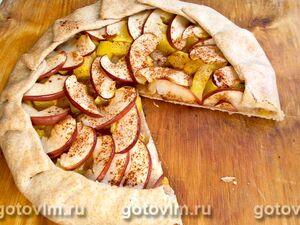 Галета с тыквой и яблоками
