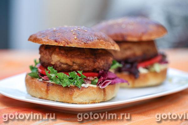 барышни и кулинара рецепты от 02,02,2014 гамбургер с индюшкой