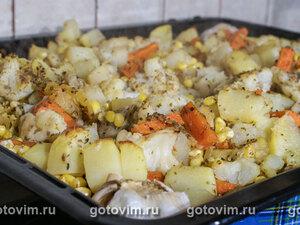 Гарнир из печеных овощей