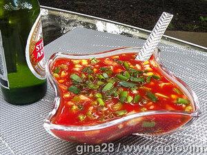 Гаспачо (из готового томатного сока)
