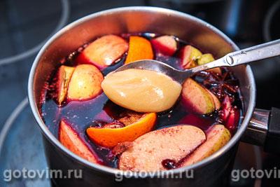Глинтвейн с яблоками и апельсинами, Шаг 06