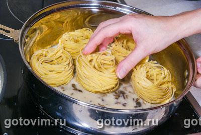 макароны гнезда соус рецепт