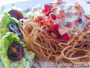 Гнездышки из спагетти