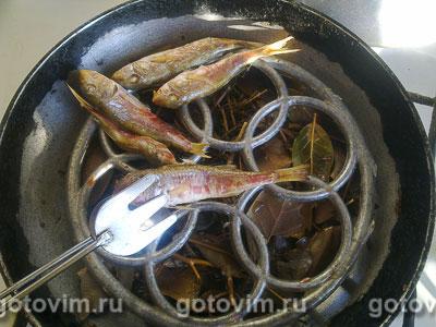 Копченая барабулька (на сковороде), Шаг 06