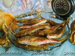 Копченая барабулька (на сковороде)