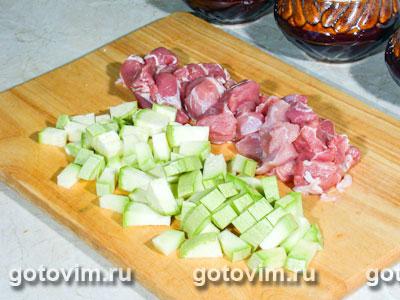 Мясо с грибами в горшочках, Шаг 01
