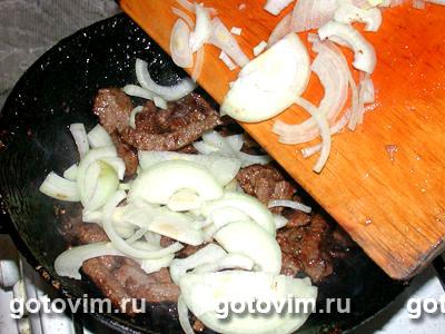 Азу с грибами и томатным соусом, Шаг 03