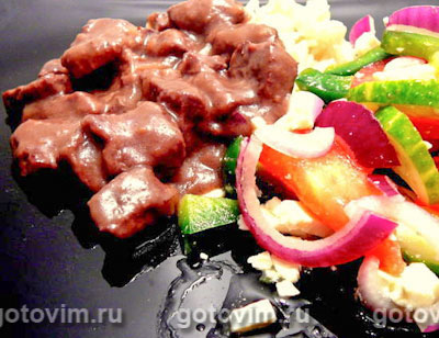 мясное рагу с овощами рецепт с фото