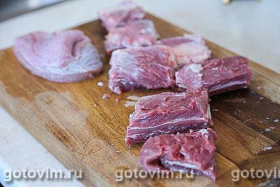 Тушеная картошка с мясом, Шаг 01