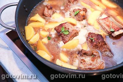 Тушеная картошка с мясом, Шаг 06