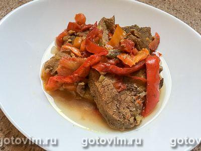 Говяжье жаркое с овощами и сливами