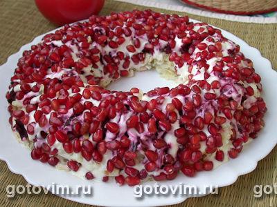 Салат из копченой курицы с виноградом рецепт с